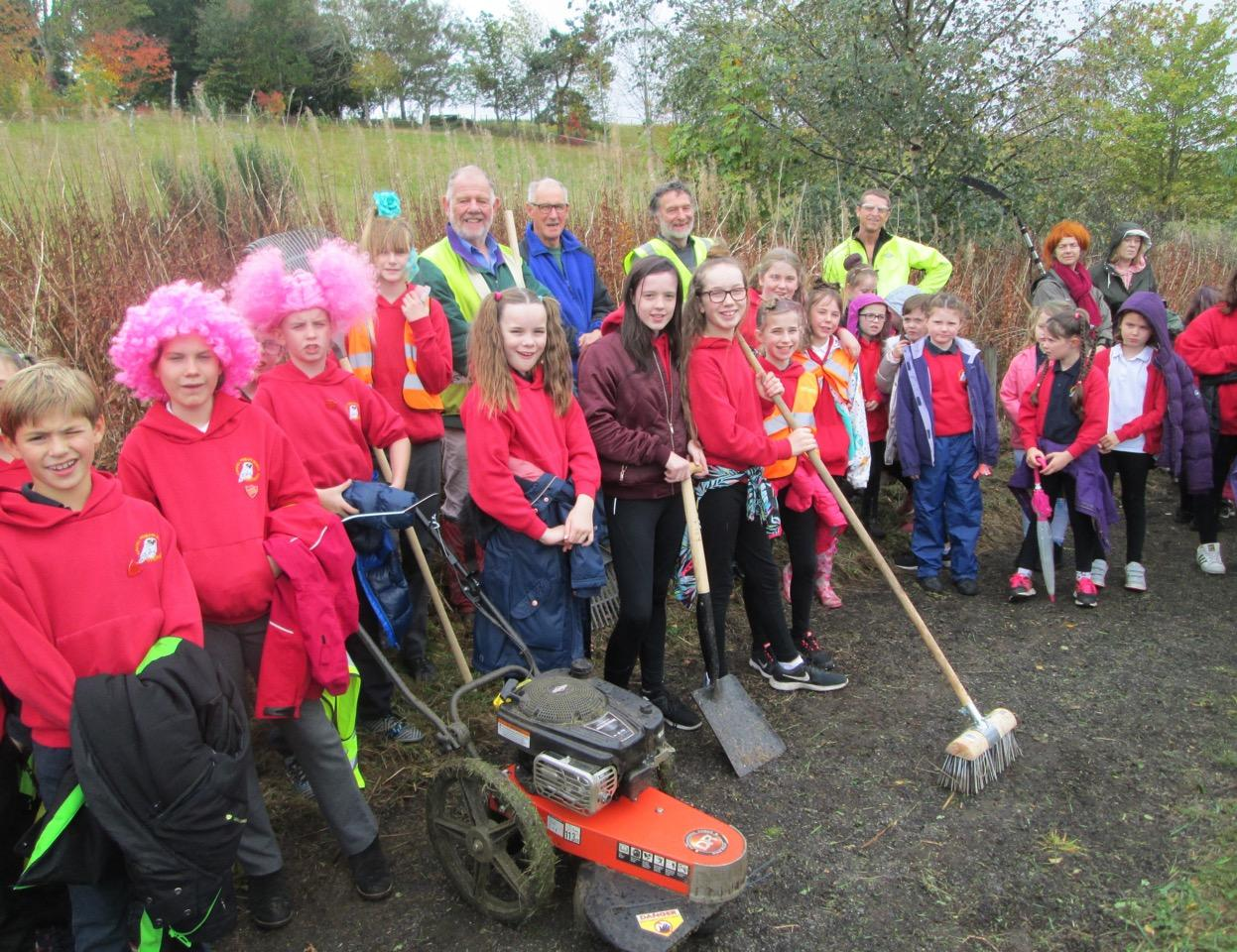 Kirkhill school and volunteers